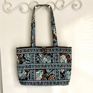 Vera Bradley | Brown and Light Blue Tote